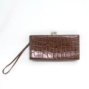 Burberry London Brown Leather Wristlet